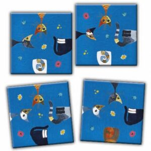 Buy HEYE Crazy9 Wachtmeister Cats (9 Piece Jigsaw Puzzle) and other great jigsaw puzzles only at Jigsaw Nation