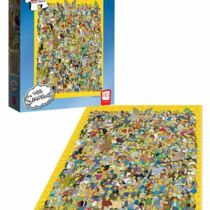 """Buy The Simpsons """"Cast of Thousands"""" and other great jigsaw puzzles only at Jigsaw Nation"""