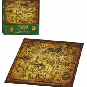 "Buy The Legend of Zelda™ ""Hyrule Map"" Collector's and other great jigsaw puzzles only at Jigsaw Nation"